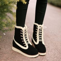 "College wind sweet Martin boots $25.00 enter""thingsfromjapan"" for 10% off http://thingsfromjapan.net/college-wind-sweet-martin-boots/ #asian shoes #asian boots #asian fashion"