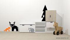 Zvířátka ze série lesní království s nábytkem #Ikea Stuva.  http://www.pieris.cz/advanced_search_result.html?keyword=lesn%ED&search_in_description=1    #IkeaStuva# #KidsRoom# #ScandinavianDesign#