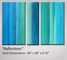 Abstract Art Turquoise Painting