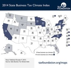 Western U.S. best for business, Tax Foundation says.  New Jersey and New York highest in country!