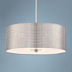 Possini euro analla round led 23 3 4 inch w pendant light Possini euro design deco style walnut column floor lamp