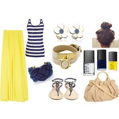 yellow maxi skirt :), created by haliacosta8 on Polyvore