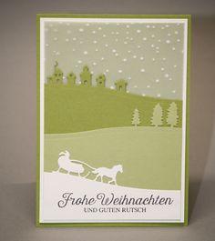Weihnachtskarte, Karte zu Weihnachten, Stampin'up! von Fleißiges Bienchen auf DaWanda.com