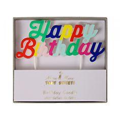 Partykerzen Happy Birthday