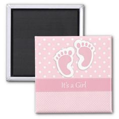 It's a Girl save the date magent Magnet