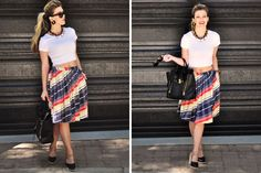 aline pull on skirt - just with a full length shirt
