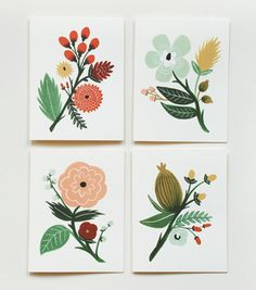 Rifle Paper Co. botanical card set: color inspiration.  LOVE this color combo