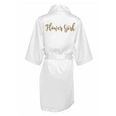 7b7cb458e7 SALE Silk Flower Girl Robe - Flower Girl Robe - Satin Flower Girl Robe - Flower  Girl wedding Gift - Silk Robe - Personalized Satin Robe