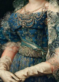 cybertronian:  INCREDIBLE DRESSES IN ART (29/∞)María Cristina de Borbón-Dos Sicilias reina de España by Vicente López y Portaña, 1830