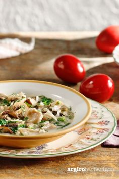 "Greek Easter Soup ""Mageiritsa"" with mushrooms! Happy Easter guys! #argiro #argirobarbarigou #argirogr #eastersoup #soup #easter #savorysoup Greek Easter, Easter Recipes, Happy Easter, Pasta Salad, Risotto, Stuffed Mushrooms, Soup, Guys, Ethnic Recipes"