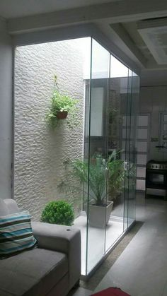 Indoor Garden Office and Office Plants Design Ideas For Summer 13 - Modern Home, Inside Garden, House Exterior, House Design, Home Room Design, Interior Garden, Indoor Courtyard, Home Garden Design, Patio Interior