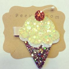 Hey, I found this really awesome Etsy listing at https://www.etsy.com/listing/204260833/glitter-ice-cream-hair-clip-sparkly-ice