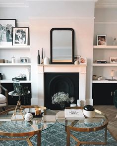 I'm thinking of *maybe* painting this room really dark grey/navy.what do you guys think? Dining Decor, Living Room Decor, Dining Room, Photo Shelf, Elegant Living Room, First Home, Living Room Designs, Small Spaces, Sweet Home