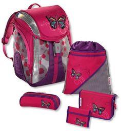 cf1c712fc51cf Step by Step Flexline Schulranzen-Set 5-tlg. Lovely Butterfly lovely  butterfly