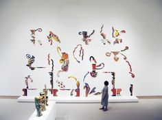 """Betty Woodman - Installation view at the Metropolitan Museum of Art, 2008, """"The House of South"""", 1996"""