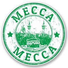 2 X Mecca Saudi Arabia Vinyl Sticker Decal Travel Luggage Tag Ipad Laptop 4723 Funny Stickers, Laptop Stickers, Cute Animal Drawings, Cute Drawings, Mecca City, Ramadan Cards, Compass Drawing, London Drawing, Travel Stamp