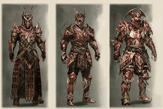 New Elder Scrolls Online Weapons And Armor Look Amazing - Gnarly Guides Eso Armor Sets, Skyrim Armor Sets, Fantasy Armor, Medieval Fantasy, Armor Concept, Concept Art, Seven Knight, Dark Knight, Gold Armor
