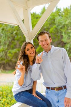 University of Texas Alumni Engagement pics. Show school support when you get engaged.
