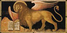 Andante Leone - The Lion of St.Mark - The symbol of Mark the Evangelist, c. 1415 by Jacobello del Fiore