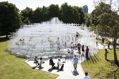 Featured here are photos of Sou Fujimoto's 2013 Serpentine Gallery Pavilion taken by Danica Kus. Capturing the semi-t...