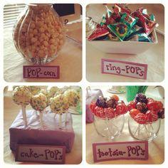 Ready to pop themed baby shower treats!