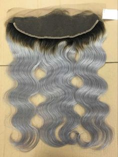13*4 cap size lace frontal body wave ombre grey closure whatsapp: 00 86 15775055540