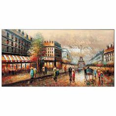 Lienzo ciudad de Paris en color