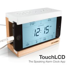Touch Lcd Works With Snooze Iphone Alarm Clock Dock