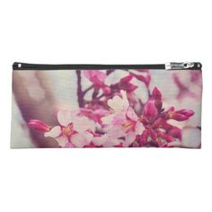 Pretty Pink Tree Blossom Photo Pencil Case - flowers floral flower design unique style