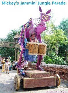 Mickey's Jammin' Jungle Parade in the Animal Kingdom park at Disney World.  This parade was permanently retired on May 31, 2014.   #AnimalKingdom  #DisneyWorld