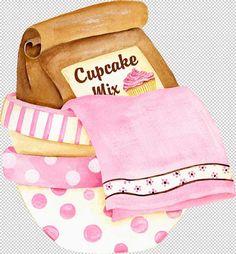 yasminx sewing ideas: decoupage prints for kitchen (mutfak için dekupaj resimleri) Cupcake Mix, Love Cupcakes, Cupcake Cookies, Valentine Cupcakes, Cupcake Toppers, Cupcake Illustration, Pink Bowls, Baking Quotes, Posters Vintage