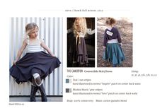 I'd totally wear these kids' clothes....love this skirt and the kneepatch leggings!  Neve & Hawk.