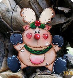 Jumpin Jesse Reindeer Ornament von CountryCharmers auf Etsy