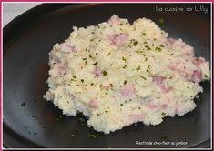 Risotto de chou fleur au jambon
