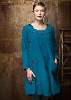 Einfarbiges Kleid aus Baumwolle/Modal 55706-75.jpg