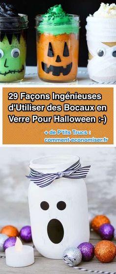 Nous avons sélectionné pour vous des idées simples pour Halloween que vos enfants vont adorer ! Tout ce dont vous avez besoin, c'est de vieux bocaux en verre et de quelques accessoires pour décorer votre maison. Découvrez l'astuce ici : http://www.comment-economiser.fr/29-facons-d-utiliser-vos-bocaux-en-verre-pour-halloween.html?utm_content=bufferf8b13&utm_medium=social&utm_source=pinterest.com&utm_campaign=buffer
