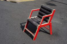 carpet_chairstreet - East London Furniture recycled Milliken carpet into functional pieces.  Talk about up cycling! (Photo courtesy of East London Furniture)