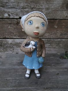Ceramica Artistica Ideas, Clay People, Pinch Pots, Collectible Figurines, Clay Art, Ceramic Art, Art Dolls, Upcycle, Projects To Try