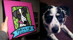 Nellie: Memorial Portrait - Border Collie/Chow Chow Mix - Custom Pet Portrait by Anne Leuck Feldhaus http://AnnesArt.com