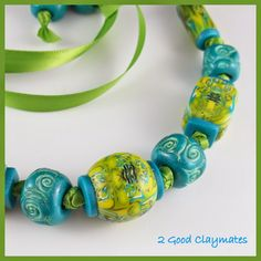"Chunky Inside Out ""Natasha"" Bead Necklace"