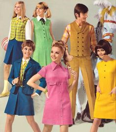 Hello 1970's! We really dressed like this. I wore dresses to school everyday until 1973 when we were allowed to wear pantsuits, polyester pantsuits.