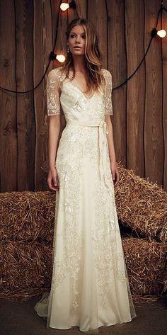 Featured Dress: Jenny Packham; Wedding dress idea.