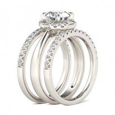 Shop 3 Piece Wedding Ring Sets, 3 Piece Bridal Ring Sets From Jeulia.com