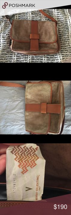 Authentic Vintage Valentino Crossbody Bag Vintage Valentino Crossbody Bag. Genuine leather and suede. Very gently used. Still have original bag. Statement piece. Ask if you have questions! Mario Valentino Bags Crossbody Bags