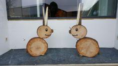 Hasen aus Holzscheiben                                                                                                                                                     Mehr