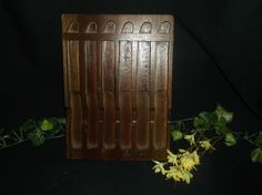 Pierre Santini Wooden Knife Block Wall Holder Gourmet Cutlery Display #PierreSantini
