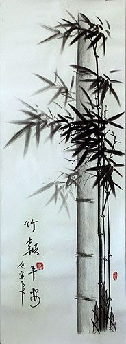 Charcoal Bamboo Drawing