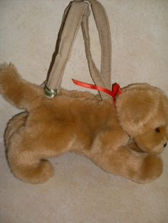 Make a pocketbook out of recycled stuffed animals