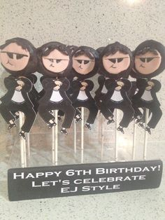 Gangnam Style Psy Oreo pops for a birthday party