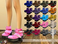 Marie Rose Gothic Boots for The Sims 4 Sims 4 Cc Kids Clothing, Goth Boots, Sims 4 Cc Shoes, Sims 4 Cc Makeup, The Sims 4 Download, Sims 4 Update, Sims Mods, The Sims4, Sims 4 Custom Content